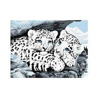 Naiyue S186 Белые тигровые братья Печать и живопись Алмазная живопись Белый