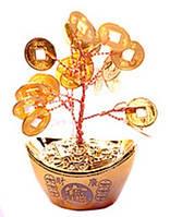 Дерево с монетками в чаше богатства