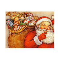 Naiyue K011 Санта-Клаус Print Draw Алмазный рисунок Красный