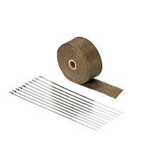 YKT-AB112 Теплоизоляционная ткань из титанового волокна для выхлопных газов Коричневый