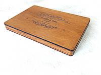 Деревянный футляр для свадебных фотографий с флешкой на магнитах 160*110*18, фото 1