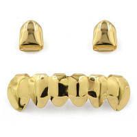 Хип-хоп 18K позолоченные зубы Grillz Золотой