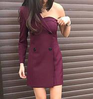 Оригинальное платье с одним открытым плечом!