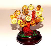 Дерево с монетками в круглом горшке