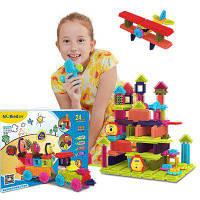 Дети дошкольного образования Mane Building Blocks Двадцать шестой набор Цветной
