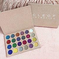 Палитра глиттеров Glamierre Unicorn Glitter Palette CLEOF Cosmetics