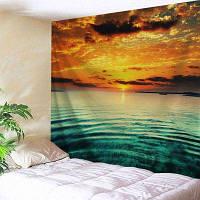 Морской закат Распечатать стену Висячий гобелен ширина59дюймов*длина51дюйм