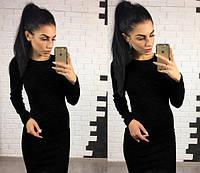 Женское платье футляр черного цвета