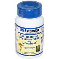 Восстановление кожи, Life Extension, Фитокерамиды с маслами пшеницы, 30 гелевых капсул