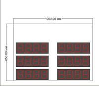 Комплект электроники для сборки табло обмена валют CE97-3-4