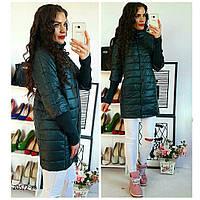 Женское куртка пальто на кнопках с рукавом 3/4 р42-48