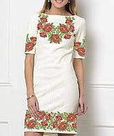 Заготовка жіночого плаття чи сукні для вишивки та вишивання бісером Бисерок  «Червоні маки» ( 27e2500dba1f1