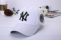 Бейсболка NY (Нью-Йорк), Унисекс Белый