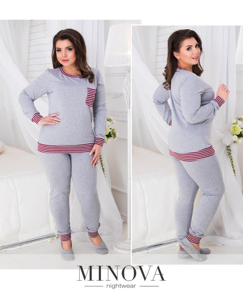 Трикотажный пижамный комплект . Размер: 50-52,