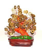 Дерево с монетками под бронзу