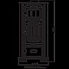 Печь-камин с духовкой DUVAL EK-5110, фото 4