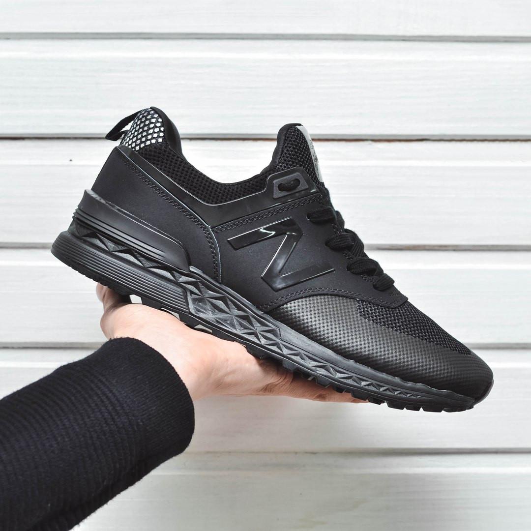 43e712fc986855 Мужские кроссовки New Balance MS574 All Black (Реплика AAA+) -  Интернет-магазин