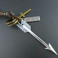 """Оригинальный металлический сборный кулон унисекс """"Стрела и крест"""" (набор кулонов)!"""