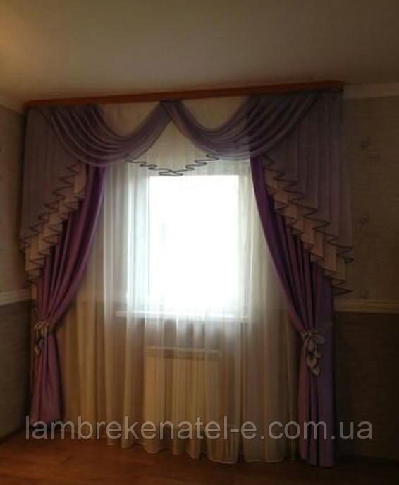 Набор ламбрекен и шторы