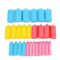 27шт Красочный мягкий ролик для роликовых волос для роликовых волос для губ с 5 размерами HS160-3 Как на изображении