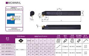 S25S-MСWNR12 Державка (резец) токарная расточная , фото 2