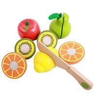 Игрушки для начинающих игрушек Деревянные режущие фрукты Цветной