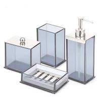 Аксессуары для ванной комнаты Комплект мыла для щетки для мыла с зубной щеткой 4 шт. Прозрачный