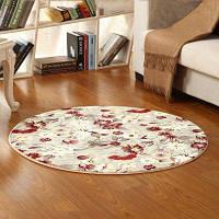 Напольный коврик Свежие цветы Pattern Круглый коврик прикроватный коврик 60x60см