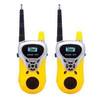 Детские Walkie Talkies Портативные двухсторонние радиоприемники Перезаряжаемый длинный диапазон Walky Talky для детей Cool Outdoor Toys Жёлтый