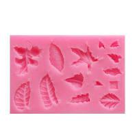 DIY Leaf Veiner Силиконовый пресс-лепной украшения Fondant Flower Sugar Craft Cake Bakware Mold Свадебное оформление Розовый