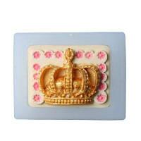 Принцесса Корона 3D Силиконовая форма Фонтант Торт Кекс Граница Свадебный Инструмент для выпечки Шоколадная конфета Gumpaste Mold Прозрачный