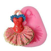 Силиконовая принцесса Платье Fondant Mold Шоколадное плесень Мыло для свадьбы Украшение торта Шоколадная конфета Gumpaste Форма для выпечки Розовый