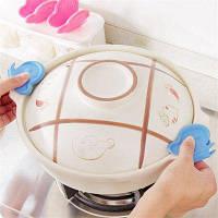 Творческая 2PCS магнитная теплоизоляция бабочки для кухонной утвари Синий