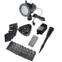 Рождественский светодиодный проектор Lights 16 слайдов Водонепроницаемый IP65 Пейзаж с пультом дистанционного управления на фестивале украшения лампы