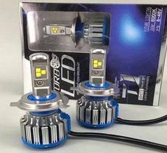 Светодиодная лампа H4 80 Вт (цена указана за 1 штуку 40 Вт) 8000LM 6500K (цена за 1шт)