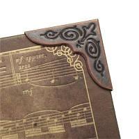 1PCS Металлические книжные угловые защитники Скрапбукинг Папки Альбомы Big 30x30mm красная медь