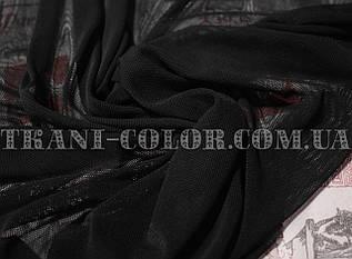 Тканина сітка стрейч чорна