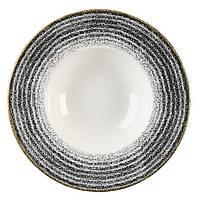 Тарелка для пасты 24 см, 284 мл фарфоровая Studio Prints Homespun Charcoal Black, Churchill