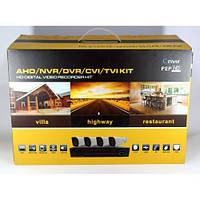 Набор видеонаблюдения DVR регистратор 4 канальный и 4 камеры DVR CAD D001 KIT