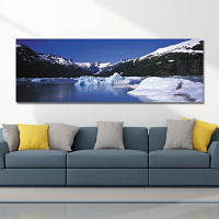DYC 10474 Фотография Снежная сцена Печать 30 x 90см