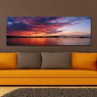 DYC 10459 Фотография Восход солнца на берегу моря Печать 30 x 90см
