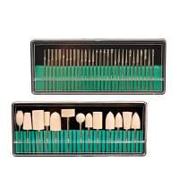 30pcs / set Nail Drill Bits+13pcs / set Набор для сверления ногтей Набор инструментов для маникюра и педикюра Электрические инструменты для ногтей для