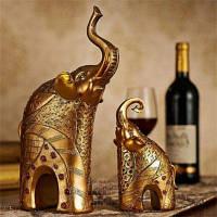 Европейский стиль Слон Гостиная Украшение Винный шкаф Мебель Свадебный подарок Золотой