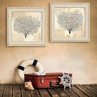 Специальная конструкция Каркасные картины Дерево фан-печати 2PCS 16 x 16 дюймов (40cм x 40cм)