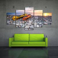 Современные безрамные холсты для домашнего офиса Wallart Decal 5pcs Разноцветный