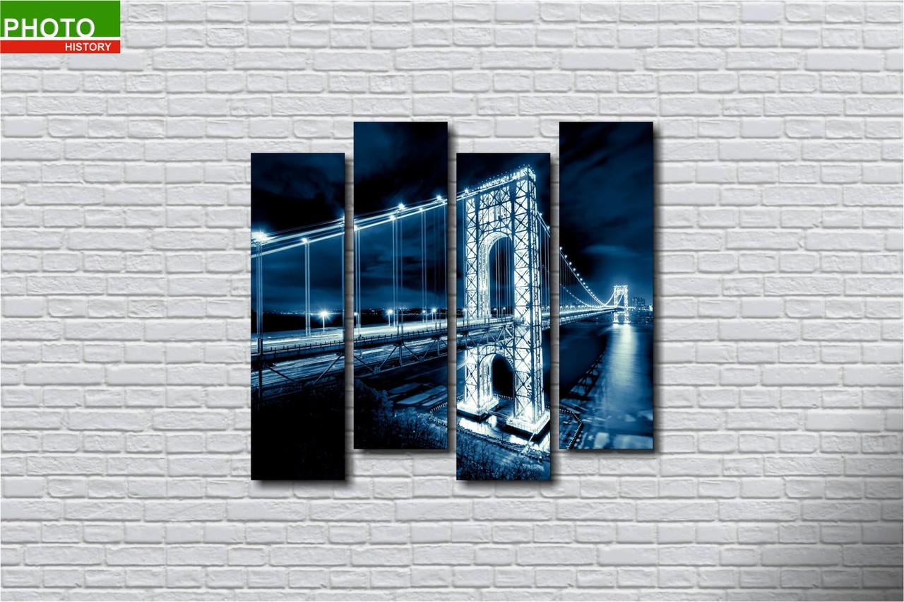 Картина модульная мост