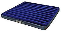 Надувной матрас кровать Intex велюр