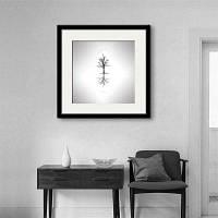 Специальная дизайнная рамка для картин Тихая печать деревьев 12 x 12 дюйма (30cм x 30cм)