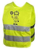 Светоотражающий жилет KLS Starlight Police детский M