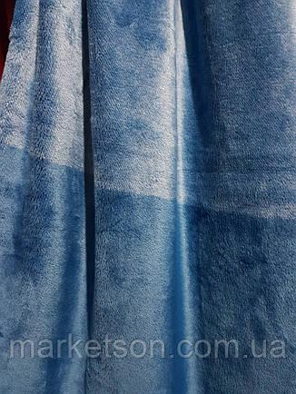 Флисовые простыни 200*230.Синий., фото 2